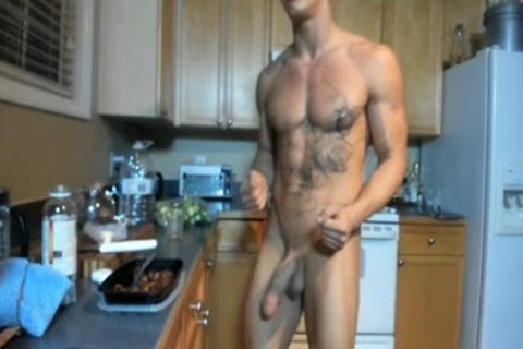 Hung pumped up stud Showing Off In The Kitchen