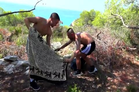 two guys boning naked And Fisting In Nature