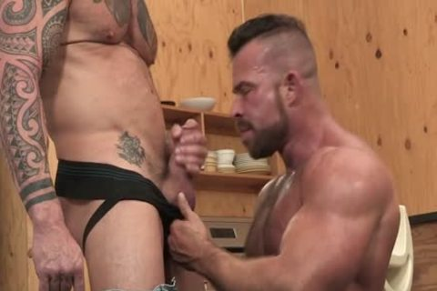 Muscle Beef boning Vic Rocco And Liam Knox