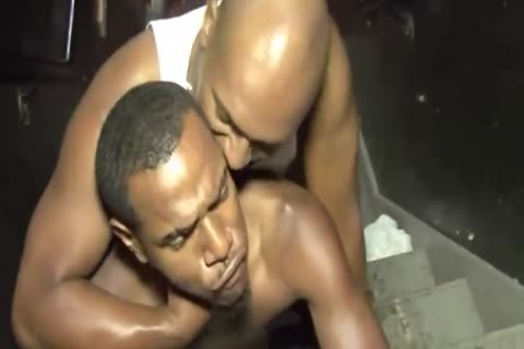 black twinks banging On Staircase
