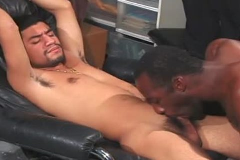 lustful ebony gays have a fun An Intimate pont of time