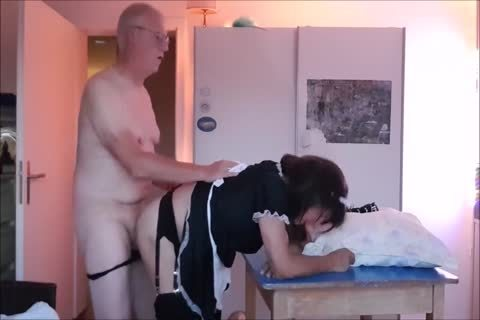 Maid Sissy Cleans house Sucks penis acquires banged
