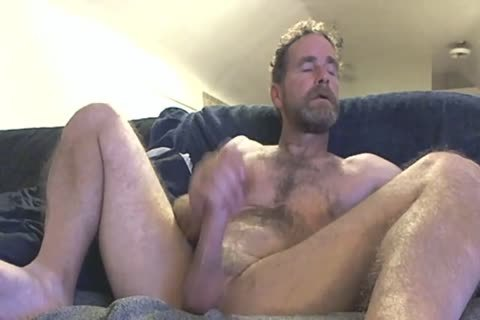 dad Fingering His cock In Front Of The Camera