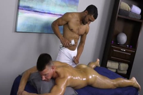 The Masseur Could Not Restrain Himself And Let Himself Go Completely.