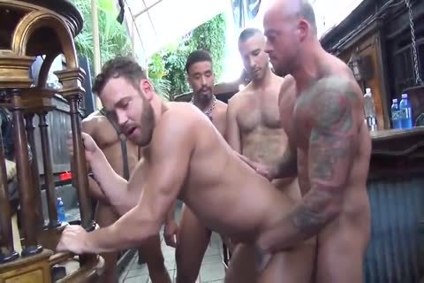 MusclePup Logan Moore acquires group drilled Barebacked pound