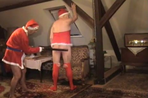 Festive couple Have A delicious Time Of spanking