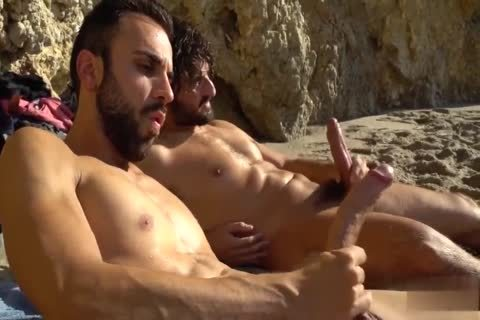 enormous weenies stroking AT THE BEACH
