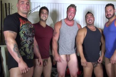 nude Party  LATINO Muscle Bear abode - non-professional pleasure W/ Aaron Bruiser