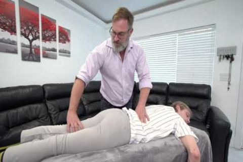 muscular lad Massaged And nailed By Stepdad