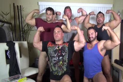 In Nature's Garb Party  LATINO Muscle Bear abode - amateur enjoyment W/ Aaron Bruiser