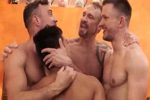 lusty 4 homosexual men In lusty group bareback plowing - GayTV