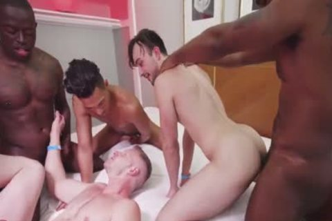 gay Interracial Sex orgy Part One