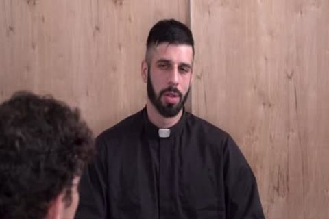 Sinful lad Punished By juicy Priest