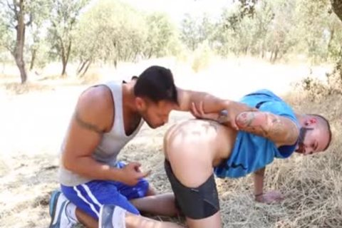 Outdoor Facial sperm With Victor Rom