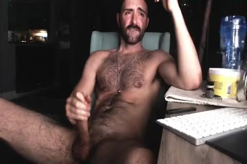 hairy Chest twink jerking off His large 10-Pounder And Shooting large Load Of cum