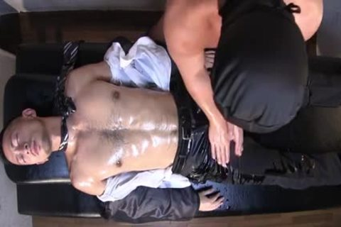 Muscle Businessman Being Massaged And Then fucked
