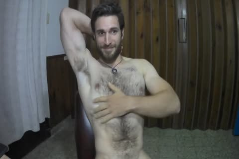 hairy Muscled man cam Show