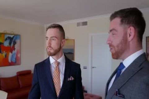 gay Suit fellatio And ass