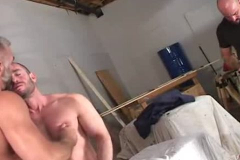 giant muscle bears suck rod and hammer a-hole