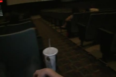 Public homo sex -- In a drilling clip theater!
